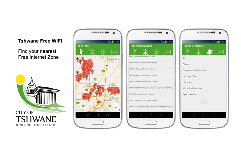 Find free WiFi in Tshwane with an app for Android