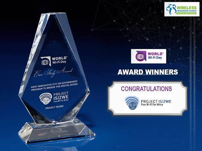 Tshwane wins global award for most innovative project for connectivity