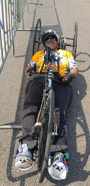 UJ student scales handcycling heights